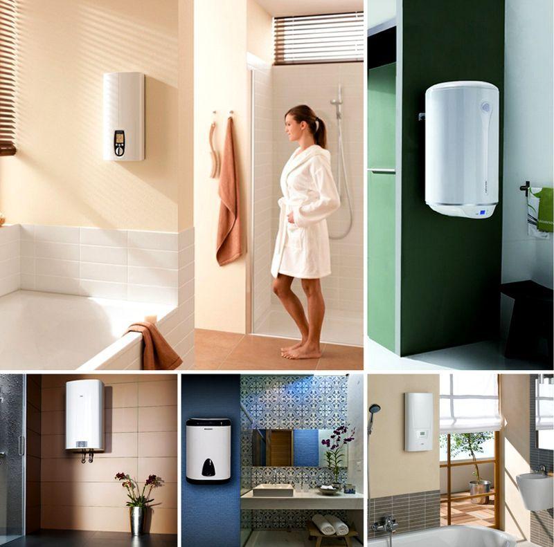 Водой из накопительного бойлера можно одновременно пользоваться в ванной и на кухне