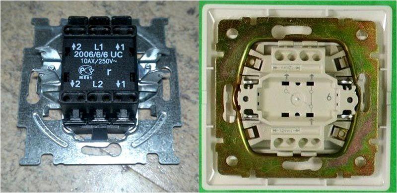 Группа контактов проходного выключателя