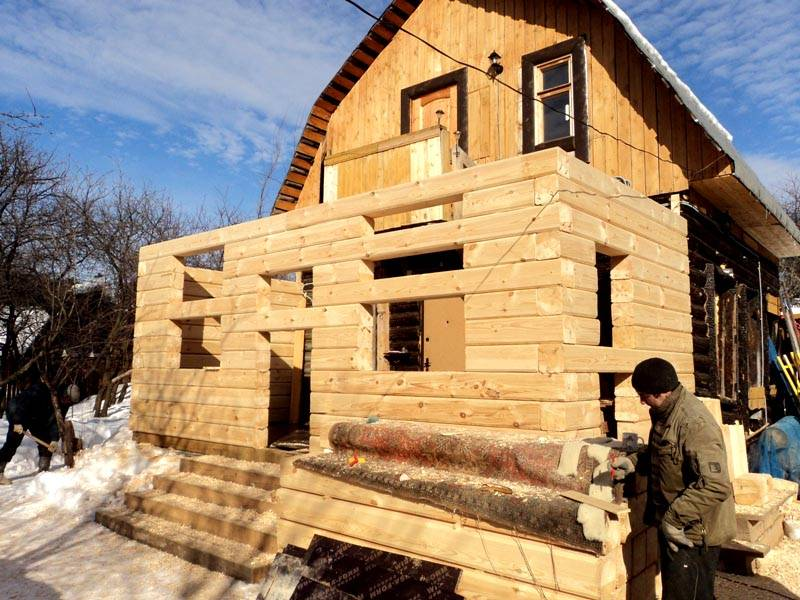 Фото двухэтажная пристройка к деревянному дому своими руками