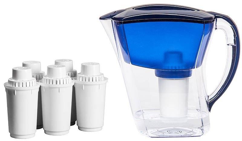 Кувшин с встроенным картриджным фильтром для очистки воды