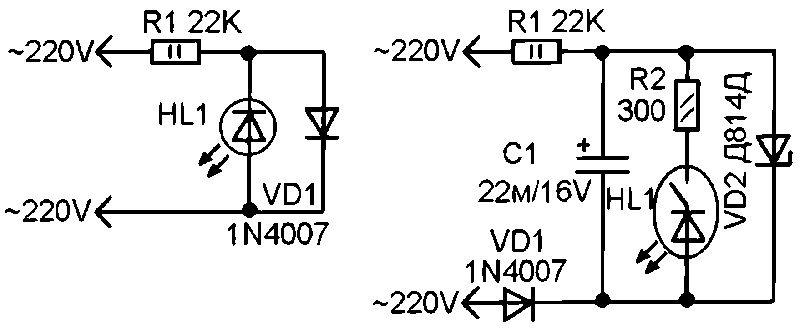 Схема индикаторной отвертки на светодиодах