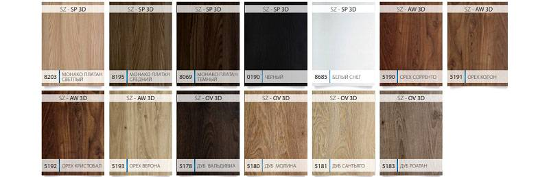 Цветовое разнообразие от Кроноспан