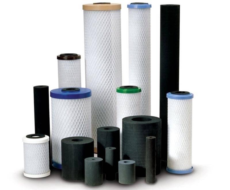 Выгоднее применение стандартных картриджей угольных в фильтрах для очистки воды