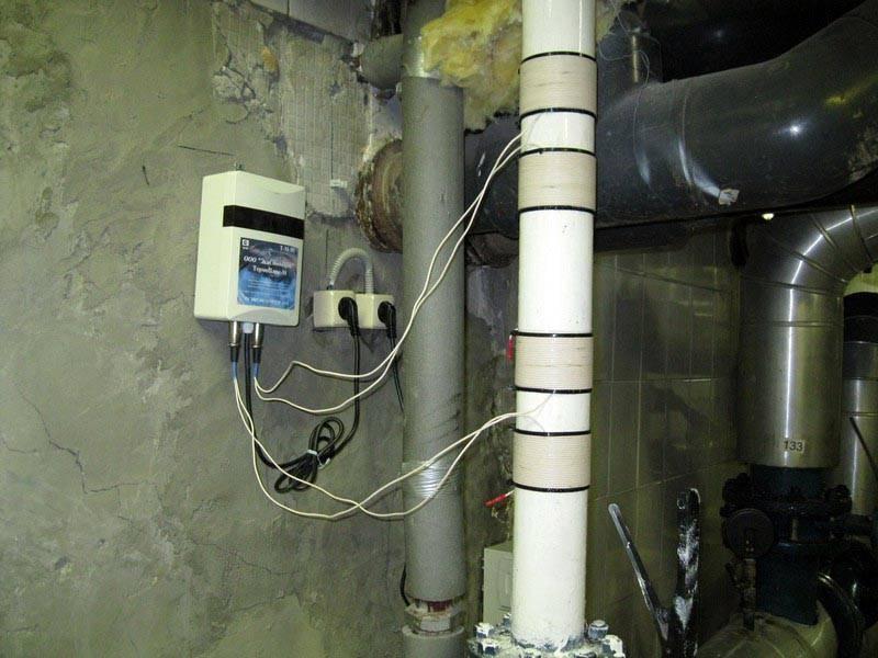 Электромагнитная защита от накипи
