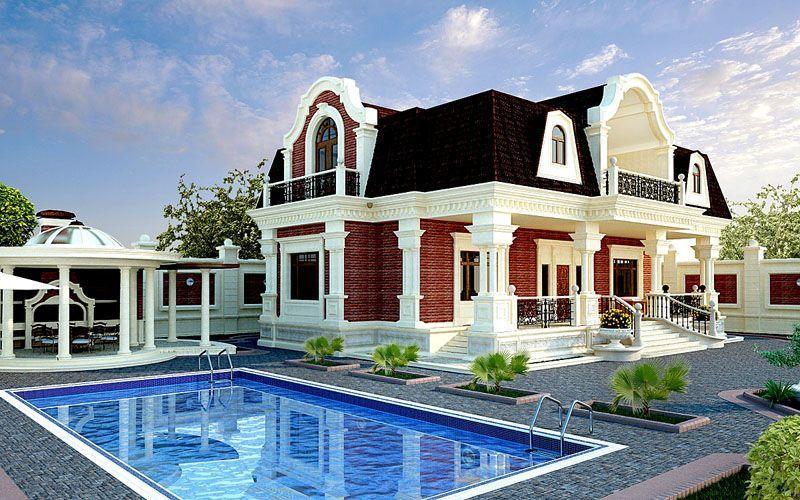Двухэтажные строения значительно экономят площадь участка, позволяя использовать ее под другие полезные постройки, к примеру, беседку или баньку