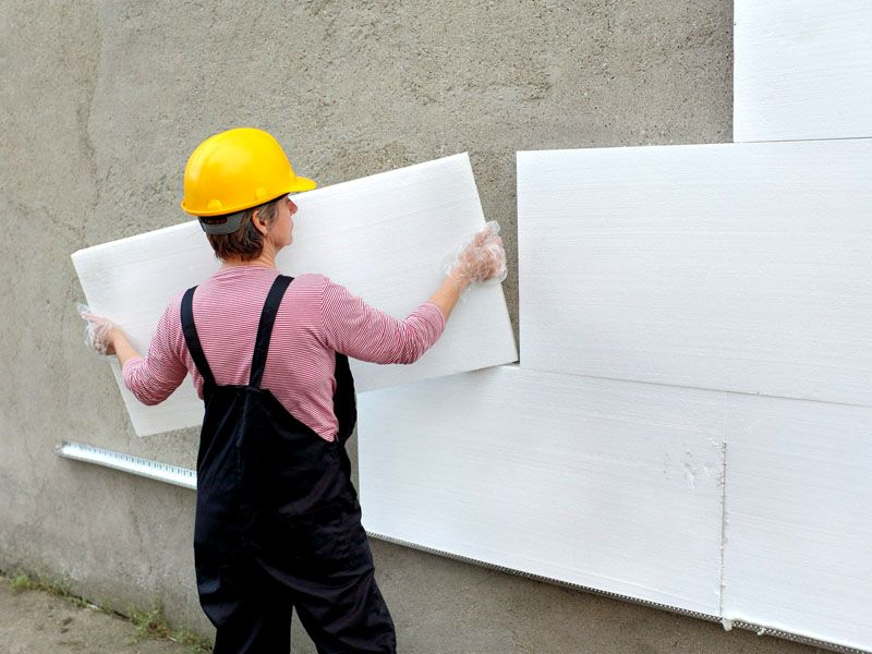Полимерный утеплитель для стен