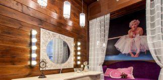Туалетный столик с зеркалом и подсветкой