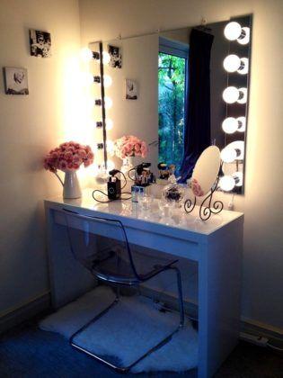 Освещенность зеркала играет большую роль