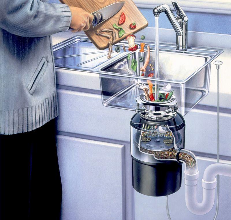 Для нормальной работы диспоузера нужен хороший напор воды и не перерабатывать слишком твердые отходы
