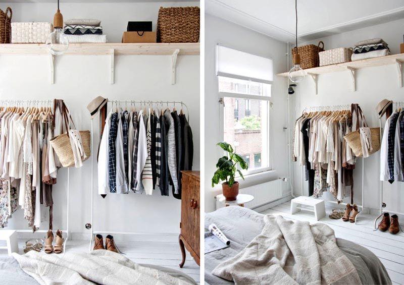 В спальне можно установить открытую конструкцию