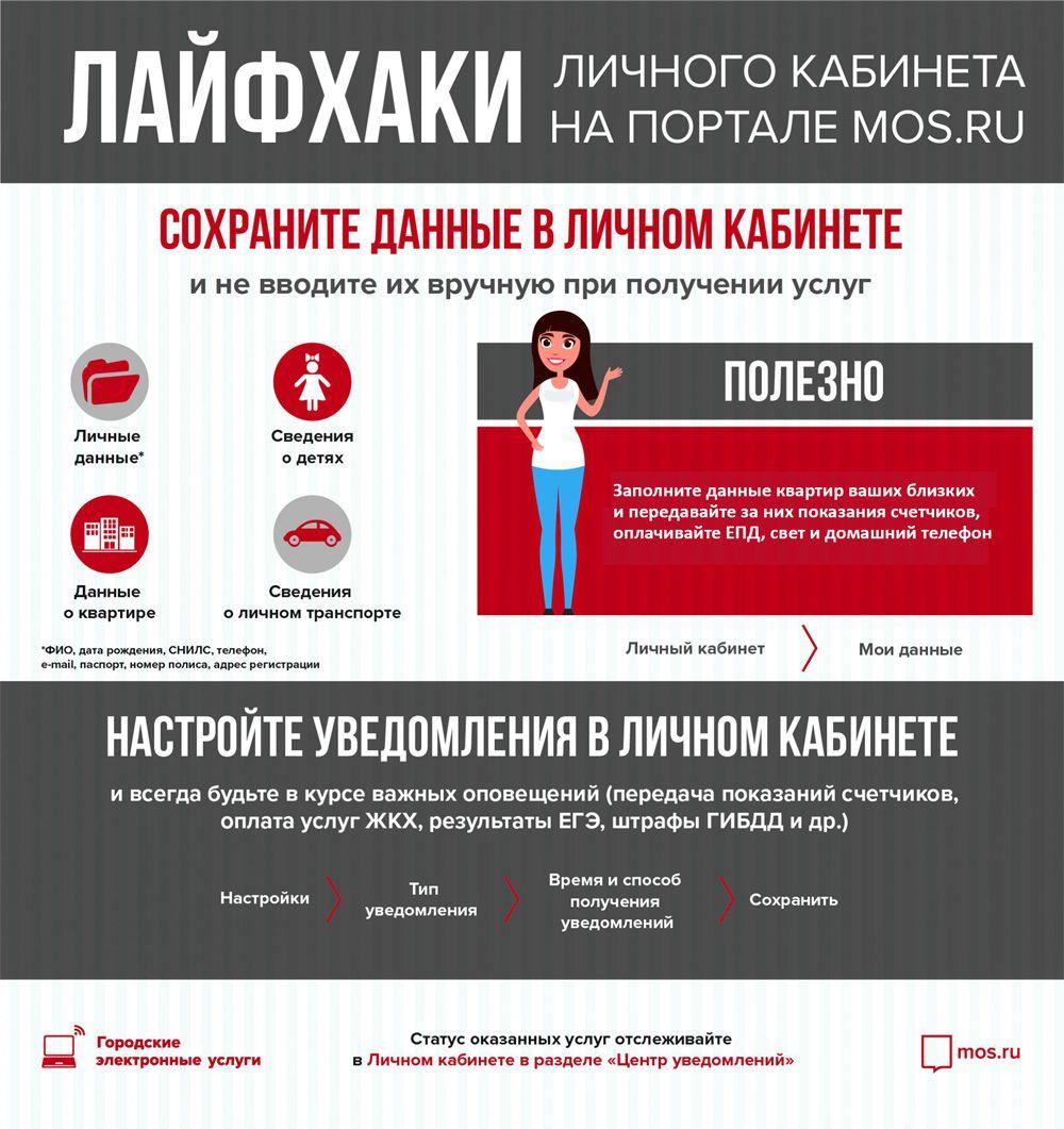 Лайфхаки личного кабинета на портале MOS.RU