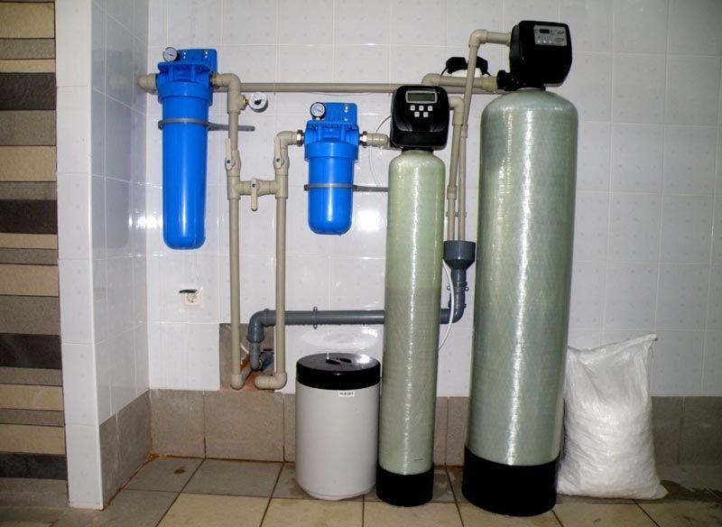 Система водоподготовки с сорбционными фильтрами