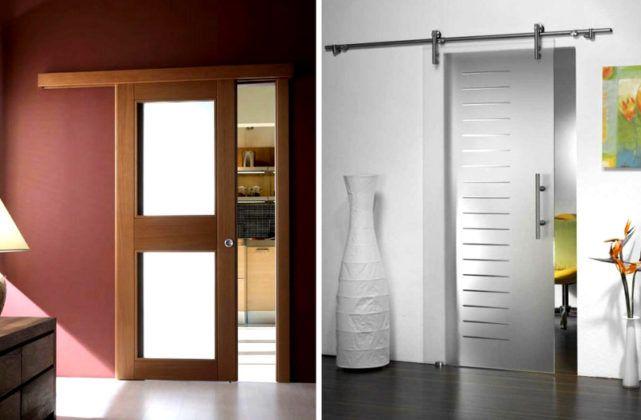 Сдвижные двери применяют для экономии пространства. Убедитесь при расчете, что достаточно места сбоку для полного открытия проема