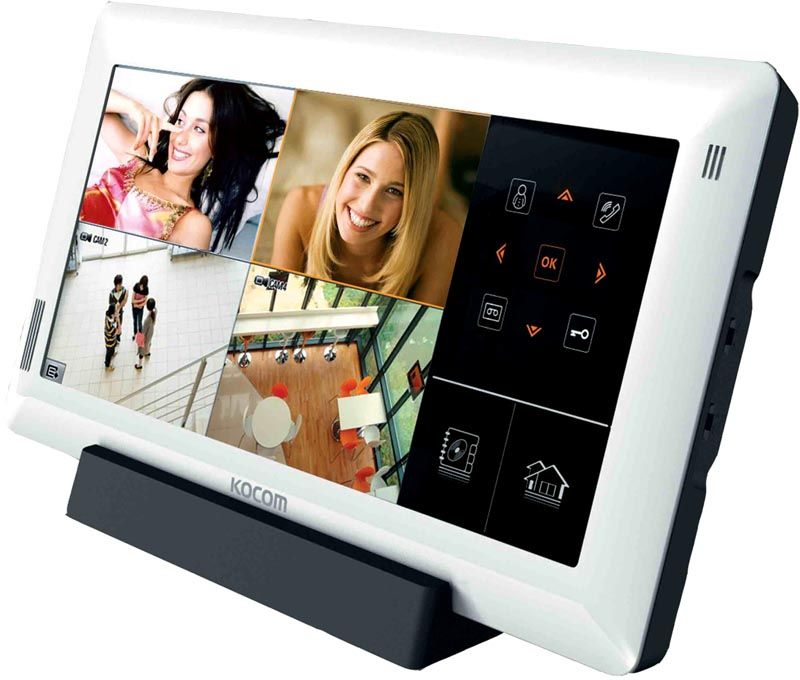 Беспроводной видеодомофон можно установить в любой точке квартиры или дома