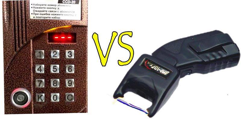 Электрошокером тоже можно открыть дверь, но есть опасность спалить электронику, поэтому так делать лучше не стоит