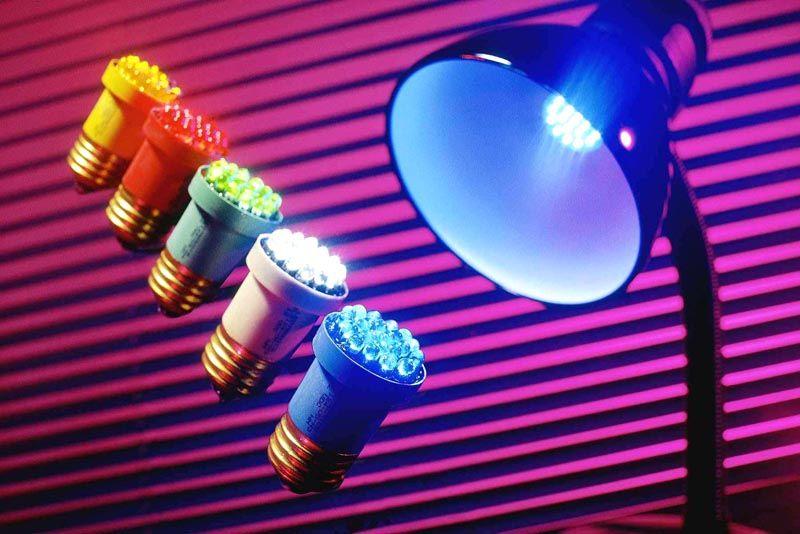 Цветные светодиоды создадут неповторимую атмосферу в помещении