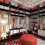 Сложную гардеробную систему, как на фото, своими руками сделать не сложно после хорошей подготовки из стандартных деталей