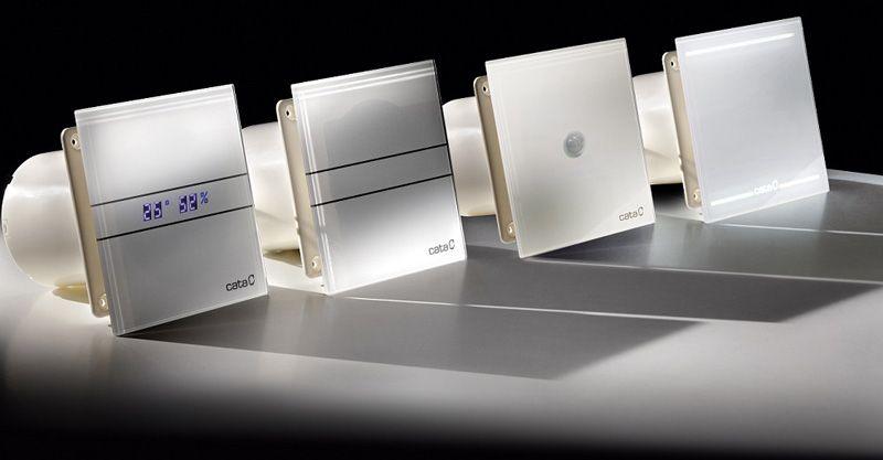 CATA EXHAUST FAN - E 100 GTH модель с монитором,где отображается температура и уровень влажности