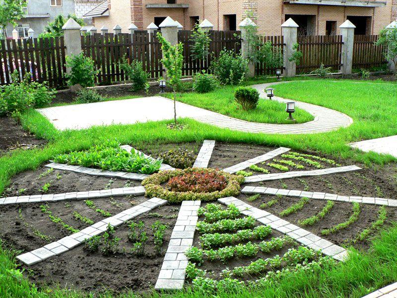 Огород как элемент декора