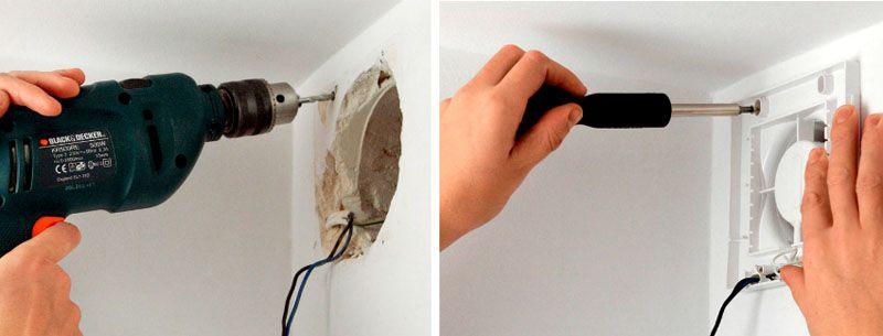 Процесс установки вентилятора не отличается высокой сложностью