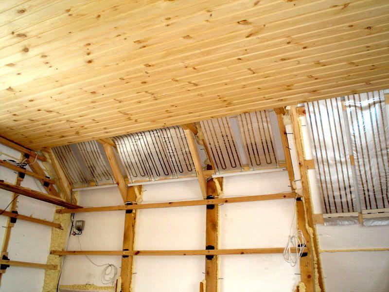 Зазор между ПЛЭН и потолочной отделкой
