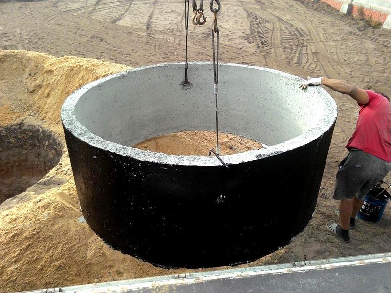 Битумная гидроизоляция колец