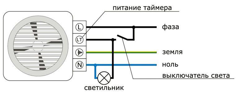 Принципиальная схема подключения устройства
