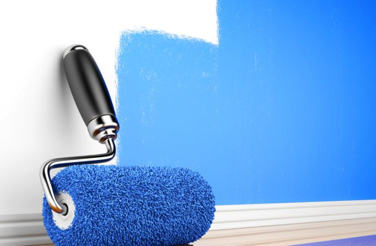 Покраска стен в квартире: дизайн, фото