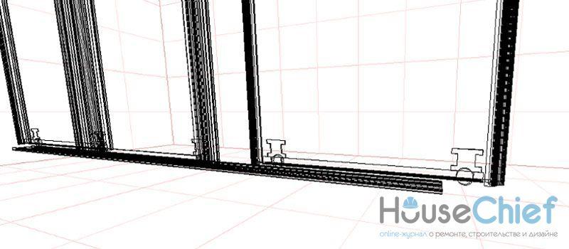 Ролики на резиновом или силиконовом ходу обеспечивают мягкую и плавную работу дверей