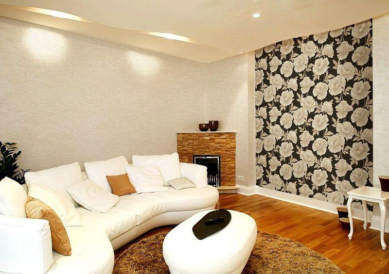Комбинировать обои в зале на фото варианты сочетания основы из флизелиновых и декор из виниловых