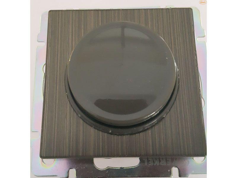 Настенный диммер для светодиодных ламп 220 В подбирают по соответствию эстетическим параметрам розеток и других видимых компонентов системы электроснабжения