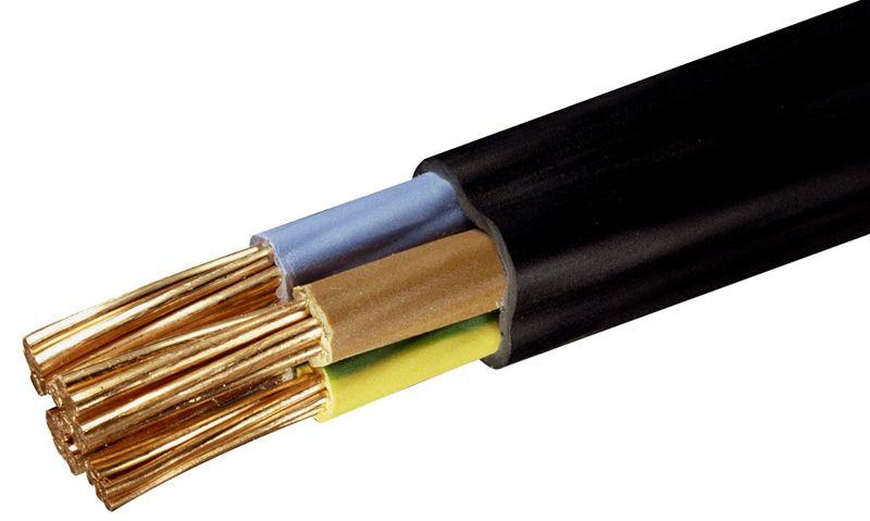 Силовой кабель очень толстый, для его опрессовки нужны более прочные элементы
