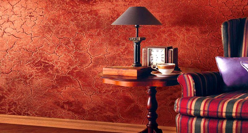 Декоративная краска на стене