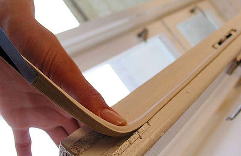 Уплотнитель улучшает теплоизоляцию деревянных окон