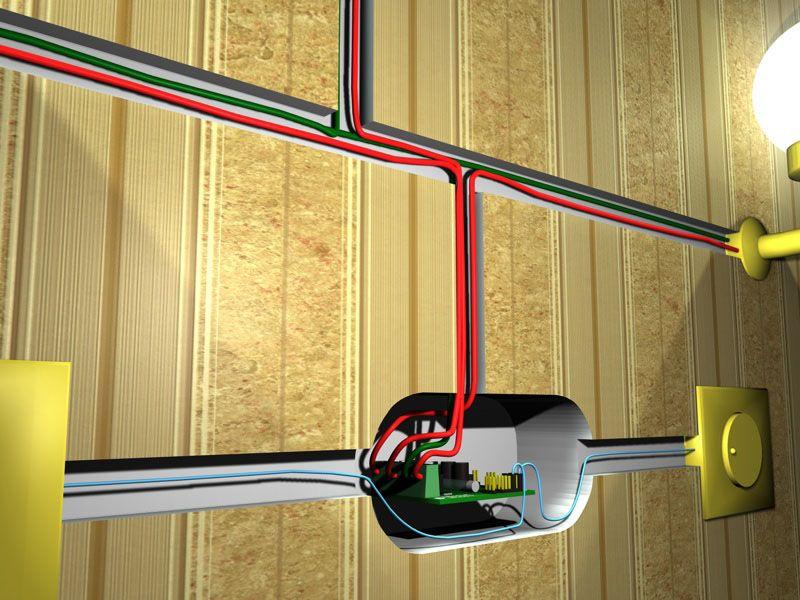 Блок диммера для светодиодных ламп 220 В можно установить в специальной монтажной нише, отдельно от рукоятки управления