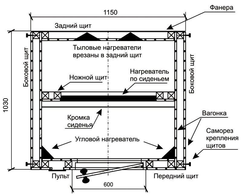 Схема – проекция сверху