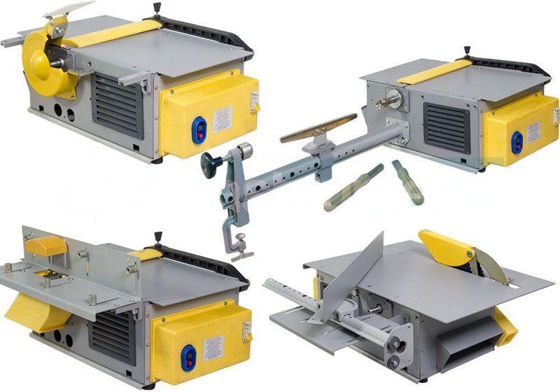 С применением специальных приспособлений многофункциональный бытовой деревообрабатывающий станок быстро трансформируется для токарных операций, решения других столярных задач
