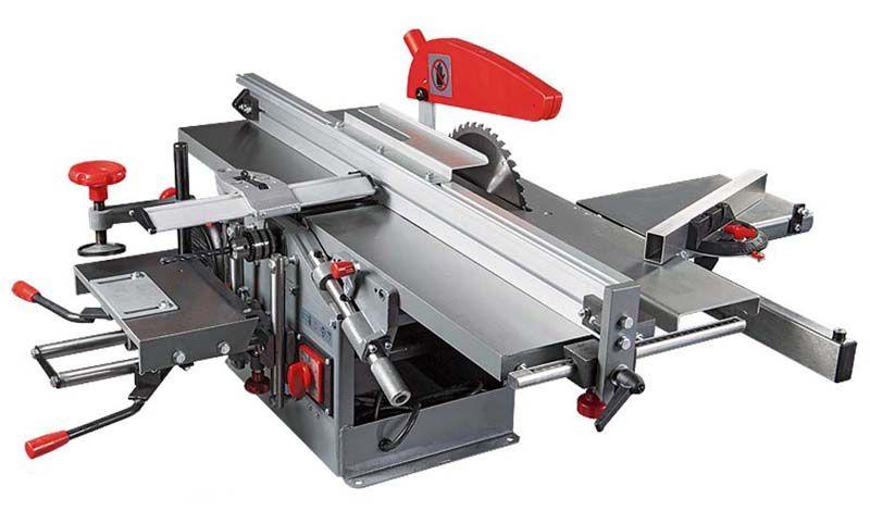 Изменение высоты подъема и размеров стола расширяет функциональность деревообрабатывающего бытового станка. Некоторые модели оснащают отдельными рабочими площадками для фрезеровки, строгания и других технологий обработки