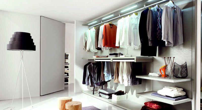 Элегантная панельная гардеробная