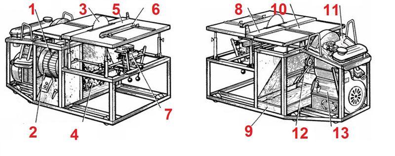 Конструкция в двух проекциях