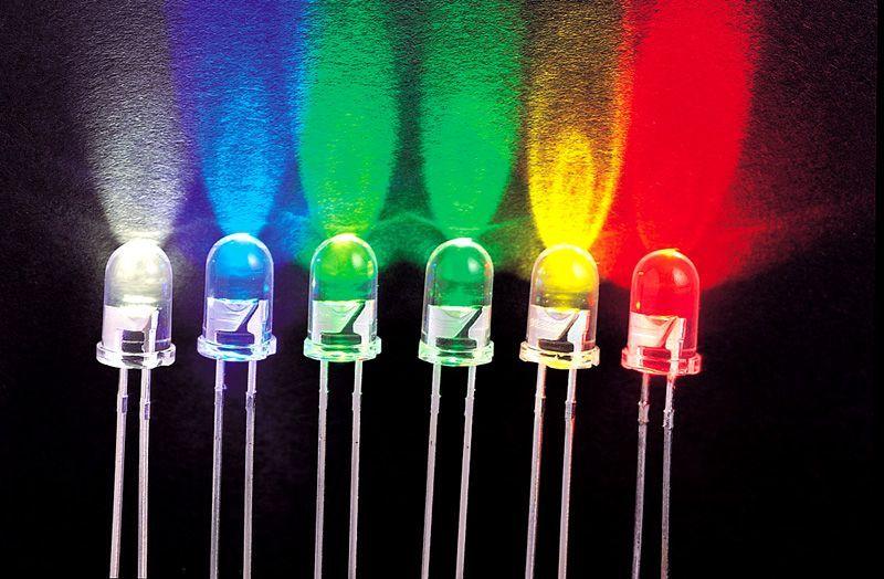 Светодиоды разного цвета имеют различные характеристики величины падения напряжения