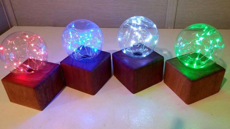 Самодельные светодиодные гирлянды светильники для декорирования помещений