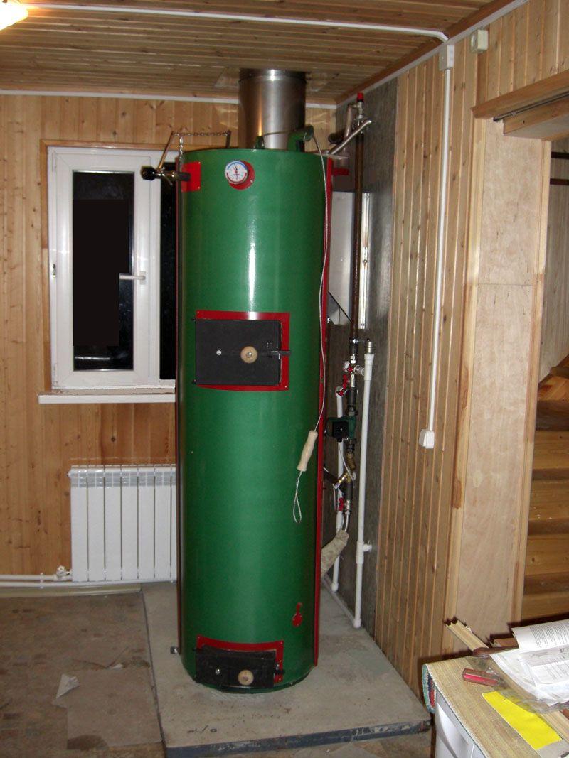 Двухконтурное устройство позволит устроить горячее водоснабжение в доме