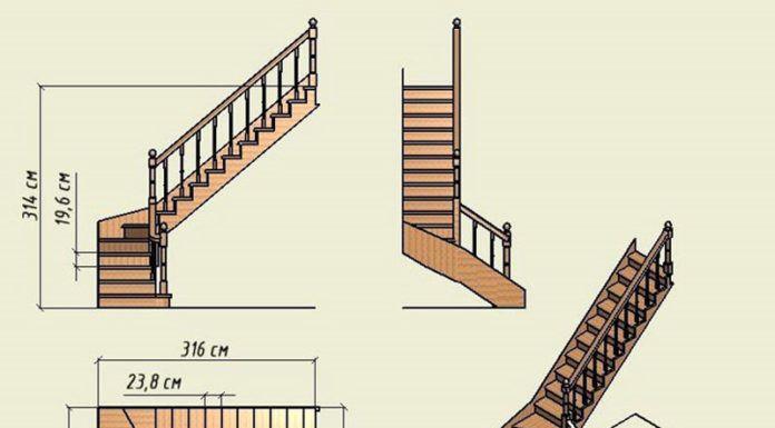 Г г-образная лестница на второй этаж своими руками 49