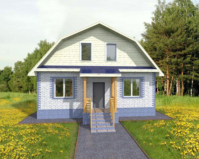 Кирпич – подходящий материал для дома с мансардой