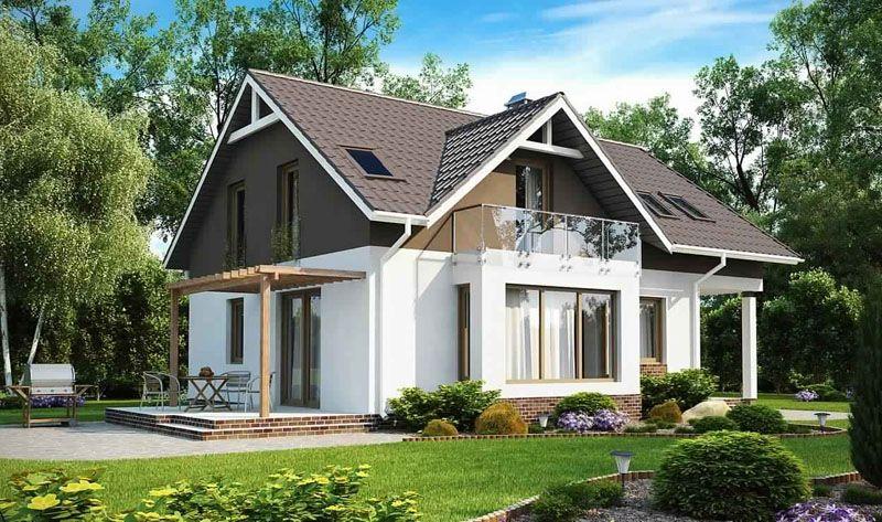 Дома с мансардой имеют большую жилую площадь