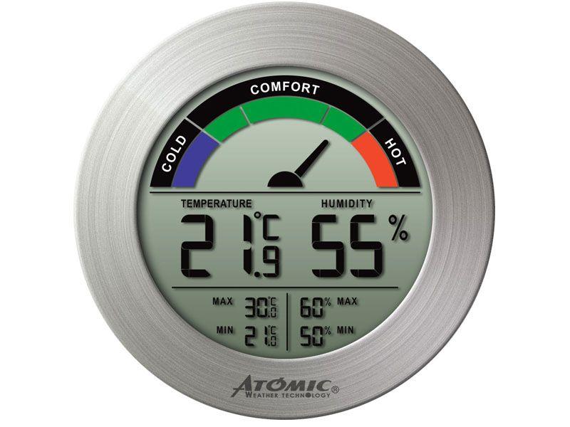 На табло выведены параметры температуры и влажности