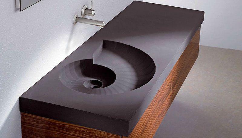 Накладная модель с формой чаши в виде спирали