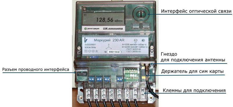 Устройство счётчика с удалённой передачей данных