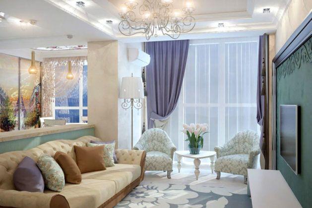 В «провансе» всегда присутствуют элементы лавандового и кремового цвета